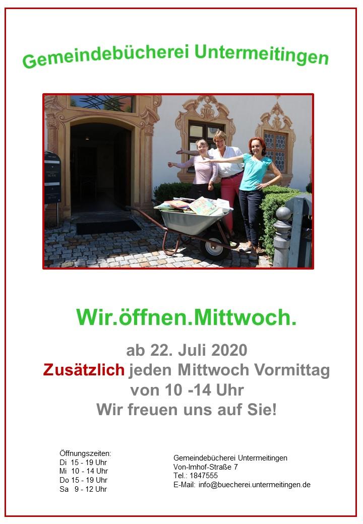 {#Mittwochsöffnung Plakat}